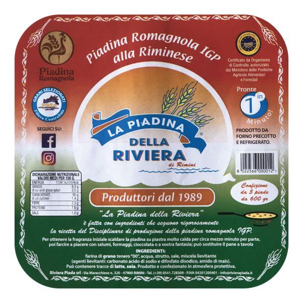 Piadina Romagnola IGP alla Riminese - La piadina della Riviera di Riviera Piada